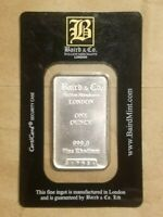 1 OZ RHODIUM BAR BAIRD MINT SEALED IN ASSAY CARD ONE OUNCE RH INGOT NICE