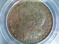 1892-S MORGAN SILVER DOLLAR EF45 - PROBABLE VAM-10 - ANACS DETAILS CLEANED