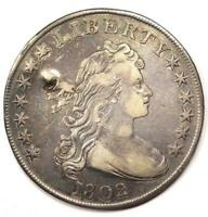 1802 DRAPED BUST SILVER DOLLAR $1 - EXTRA FINE  DETAILS EF -  TYPE COIN