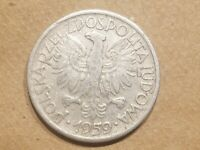 1959 POLAND 2 ZLOTE COIN POLISH 2 ZLOTY ZT NICE COMMUNIST COLD WAR RELIC
