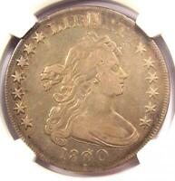 1800 DRAPED BUST SILVER DOLLAR $1 COIN BB-194, DOTTED DATE - NGC VF DETAILS