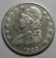 1833 CAPPED BUST HALF JH117