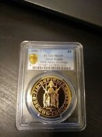 GREAT BRITISH 1989 5 SOVEREIGN GOLD COIN W/PCGS MS69