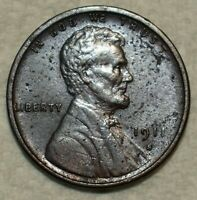 ABOUT UNCIRCULATED 1911 S LINCOLN CENT  SHARP SPECIMEN