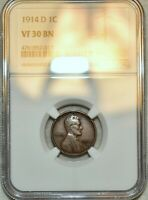 NGC VF 30 BN 1914 D LINCOLN CENT  SHARP NEAR XF SPECIMEN