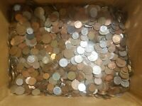 50 POUNDS OF WORLD COINS  FOREIGN COIN LOT 1800'S TO 2010S