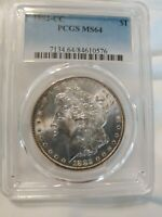 1882 CC MORGAN DOLLAR PCGS MS 64        .99 STARTING BID