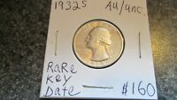 1932'S WASHINGTON  SILVER QUARTER IN AU TO UNCIRCULATED COND