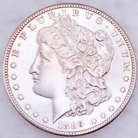 1889 CC CARSON CITY MORGAN SILVER DOLLAR SUPER  GEM BU   KIN