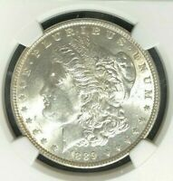 1889 VAM 19A NGC MINT STATE 61 MORGAN SILVER DOLLAR-GENE L HENRY LEGACY COLLECTION
