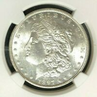 1897 VAM 6A NGC MINT STATE 61 MORGAN SILVER DOLLAR-GENE L HENRY LEGACY COLLECTION