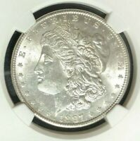 1897 VAM 6A NGC MINT STATE 62 MORGAN SILVER DOLLAR-GENE L HENRY LEGACY COLLECTION