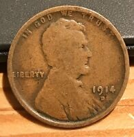 1914 D LINCOLN WHEAT PENNY KEY DATE SMALL CENTS US COINS DEN