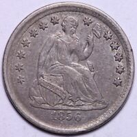 EXTRA FINE  1856 SEATED LIBERTY HALF DIME       R3GNE