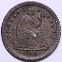 EXTRA FINE  1856 SEATED LIBERTY HALF DIME       R3KNE