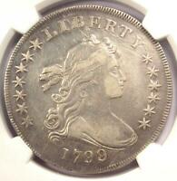 1799/8 DRAPED BUST SILVER DOLLAR $1 13 STARS - NGC EXTRA FINE  DETAILS -  OVERDATE