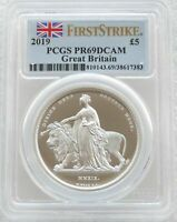 2019 UNA AND THE LION 5 SILVER PROOF 2OZ COIN PCGS PR69 DCAM FIRST STRIKE