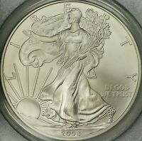 2008-W REVERSE OF 2007 SILVER EAGLE PCGS MS70