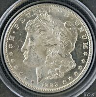 1889-S MORGAN DOLLAR MINT STATE 63 PCGS STRONG MIRRORS WITH SHARP STRIKE