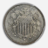 1866 5C WITH RAYS SHIELD NICKEL W/RAYS PCGS MINT STATE 64