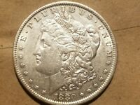 1880 O MORGAN SILVER DOLLAR LIBERTY HEAD $1 COIN ABOUT UNCIRCULATED AU NICE