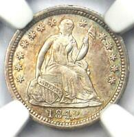 1842-O SEATED LIBERTY HALF DIME H10C COIN - NGC UNCIRCULATED DETAILS UNC MS