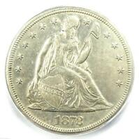 1872-S SEATED LIBERTY SILVER DOLLAR $1 COIN - ICG AU58 -  - $8,690 VALUE