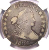 1806 DRAPED BUST HALF DOLLAR 50C COIN - CERTIFIED NGC FINE DETAILS