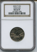 2003 P MISSOURI  QUARTER NGC MS 66 PL