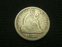 1872  SEATED LIBERTY HALF DIME 90 SILVER EACH ADDITIONAL COIN SHIPS FREE