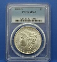 1900 O MORGAN SILVER DOLLAR $1 PCGS MINT STATE 65