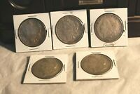LOT OF 5 MORGAN SILVER DOLLARS 1886,1900-O,1921-D, 1921, 1921-S UNGRADED