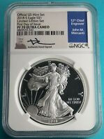 2018 S AMERICAN SILVER EAGLE PF 70 U.C. LIMITED EDITION SET 1OZ FIRST RELEASES