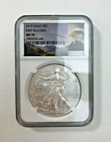 2015 $1 EAGLE FIRST RELEASES MS 70 NGC PNG