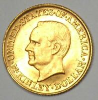 1916 MCKINLEY COMMEMORATIVE GOLD DOLLAR COIN G$1   UNCIRCULATED DETAIL  UNC MS