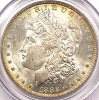 1882-O/S STRONG MORGAN SILVER DOLLAR $1 - PCGS MINT STATE 62 -  VARIETY BU UNC COIN