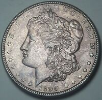 1890-P MORGAN SILVER DOLLAR UNC STRIKING DEEP TONED GOLDEN PURPLE COLOR DR