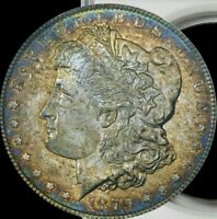 1879-S MORGAN SILVER DOLLAR NGC MINT STATE 64 PROMINENT COLOR TONING & YEAR TONED
