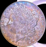 1885-O MORGAN SILVER DOLLAR PCGS MINT STATE 63 PREFERRED YEAR & COLOR TONING