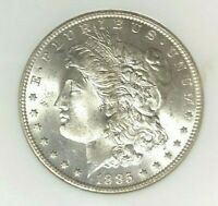 1885-O MORGAN DOLLAR SILVER DOLLAR - OLD NGC MINT STATE 64 BEAUTIFUL COIN REF09-008