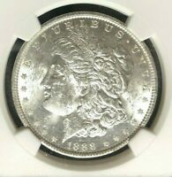 1888 VAM 7 NGC MINT STATE 60 MORGAN SILVER DOLLAR-GENE L HENRY LEGACY COLLECTION
