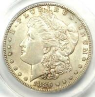 1886-S MORGAN SILVER DOLLAR $1 - ANACS AU55 -  DATE IN AU55 - NEAR MS/UNC