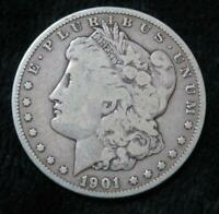 1901-S MORGAN SILVER DOLLAR  90 SILVER  CLEAR DATE/MINT MARK  BOOK QUALITY