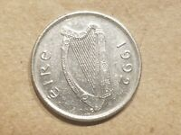 1992 IRELAND 5 PENCE 1/20 PUNT IRISH COIN EIRE BULL COW STEER SOUVENIR NICE