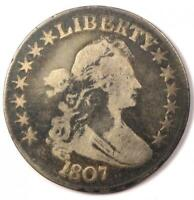 1807 DRAPED BUST HALF DOLLAR 50C - FINE DETAILS CONDITION -  EARLY COIN