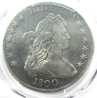 1800 DRAPED BUST SILVER DOLLAR $1 12 ARROWS -  PCGS FINE DETAILS -  COIN