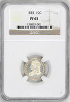 1835 CAPPED BUST 10C NGC PR 65
