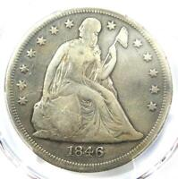 1846-O SEATED LIBERTY SILVER DOLLAR $1 - PCGS FINE DETAILS -  DATE COIN