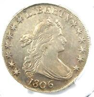 1806 DRAPED BUST HALF DOLLAR 50C COIN - CERTIFIED PCGS EXTRA FINE  DETAIL -