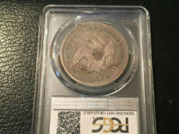 1873- SEATED LIBERTY 90 SILVER DOLLAR $1 -  COIN NO ARROWS.-PCGS-VF DETAILS